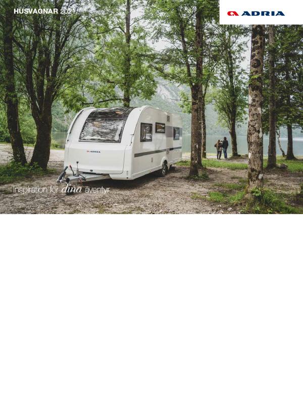 Adria katalog 2021 för husvagn