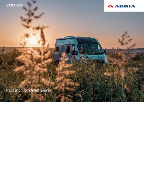 Adria katalog 2021 för Vans