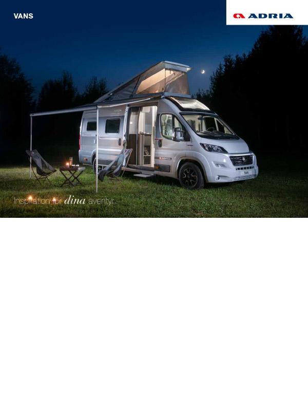Adria katalog 2022 för Vans