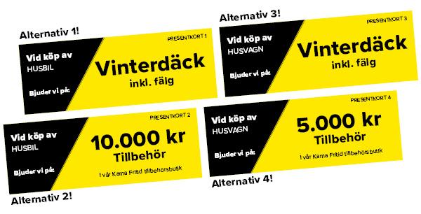 Kampanj presentkort vinterdäck eller tillbehör