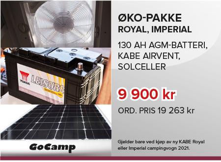 Ekopakke Royal, Imperial Campingvogn tilbud