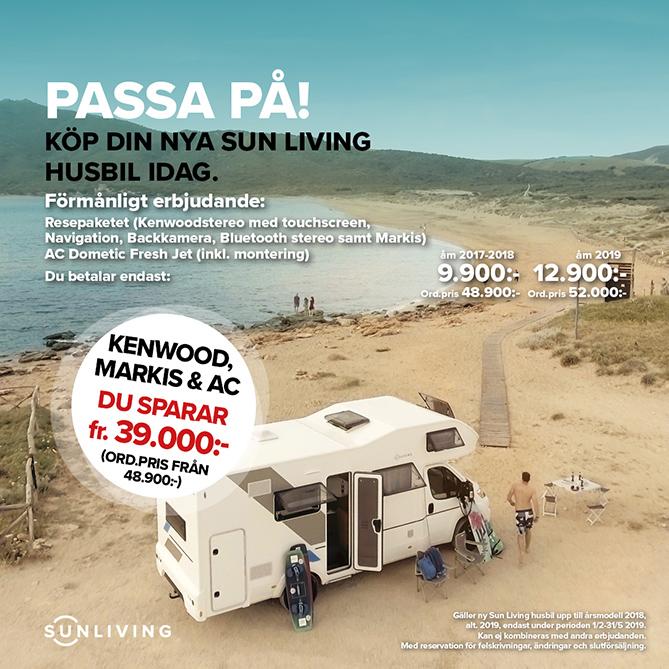 Erbjudande resepaketet Sun Living husbil