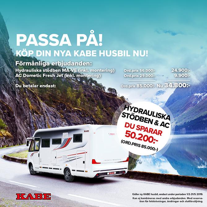 AC och hydrauliska stödben KABE husbil