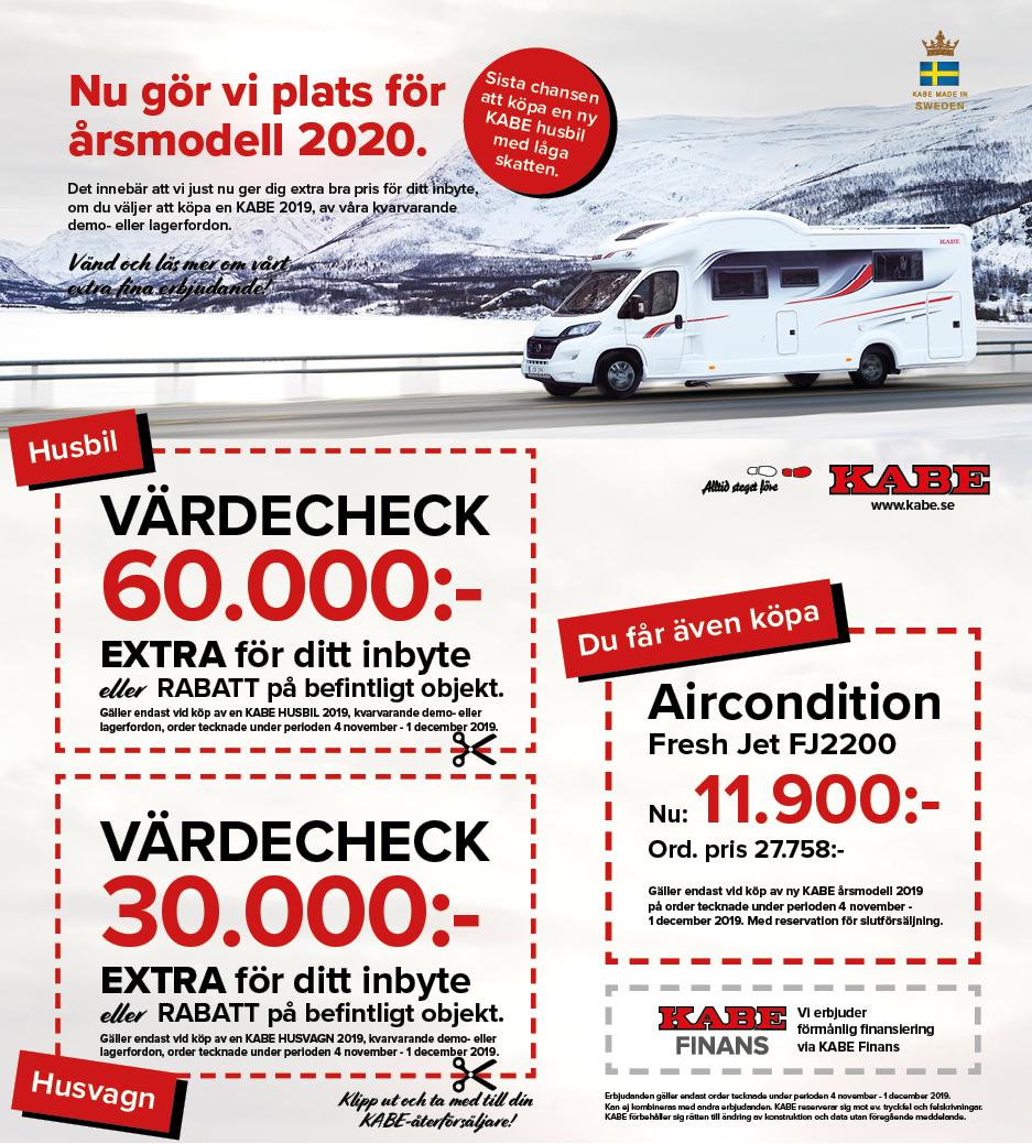 KABE husvagn kampanj